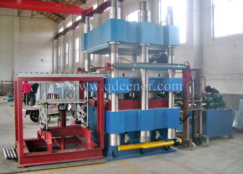 Six column plate vulcanizing press
